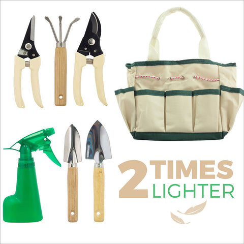 7-Piece Garden Tool Set with Canvas Tote