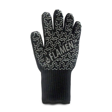 Flamen Heat Resistant Gloves (932F, 500C), Aramid Oven mitts with Maximum Heat Resistance