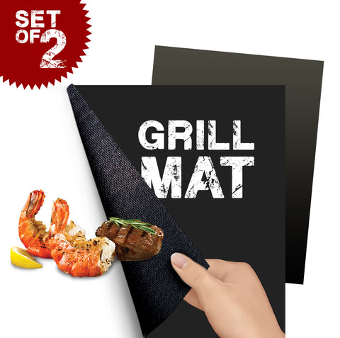 BBQ Grill Mat Non-Stick Perfect Grilling (2 Packs)