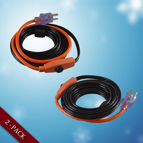 Heating Cable for Pipe and Valve, 2 Packs