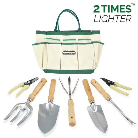 6-Piece Garden Tools with Canvas Tote