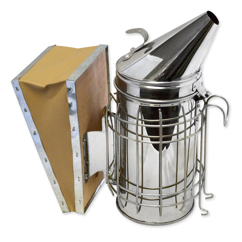 "Bee Hive Smoker 11"" Stainless Steel with Heat Protection"