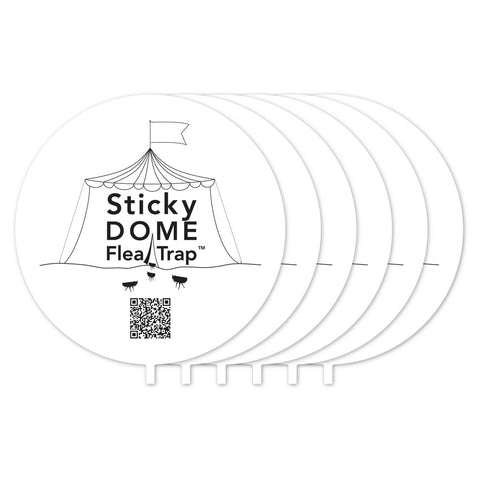 Aspectek Sticky Dome Flea Trap Refill - 6 pack