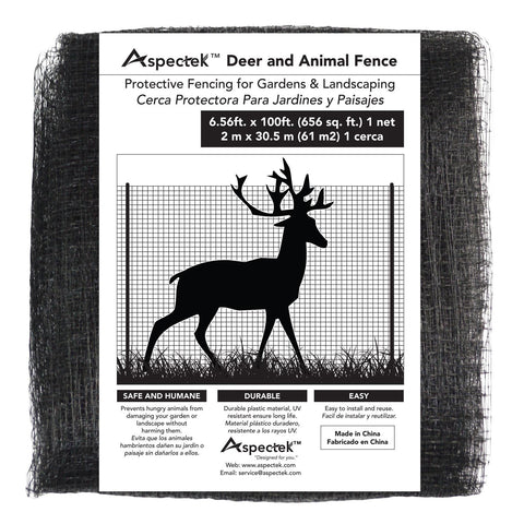 Aspectek Deer & Animal Fence Netting 7 x 100 Feet, Protective Fencing for Gardens & Landscapes