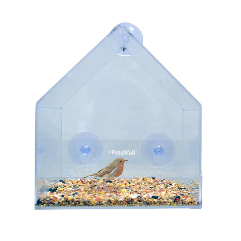 PetsN'all Clear View Window Bird Feeder
