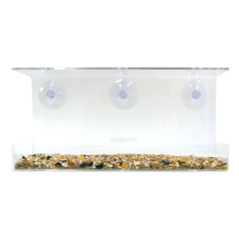 PetsN'all Wide Clear View Window Bird Feeder