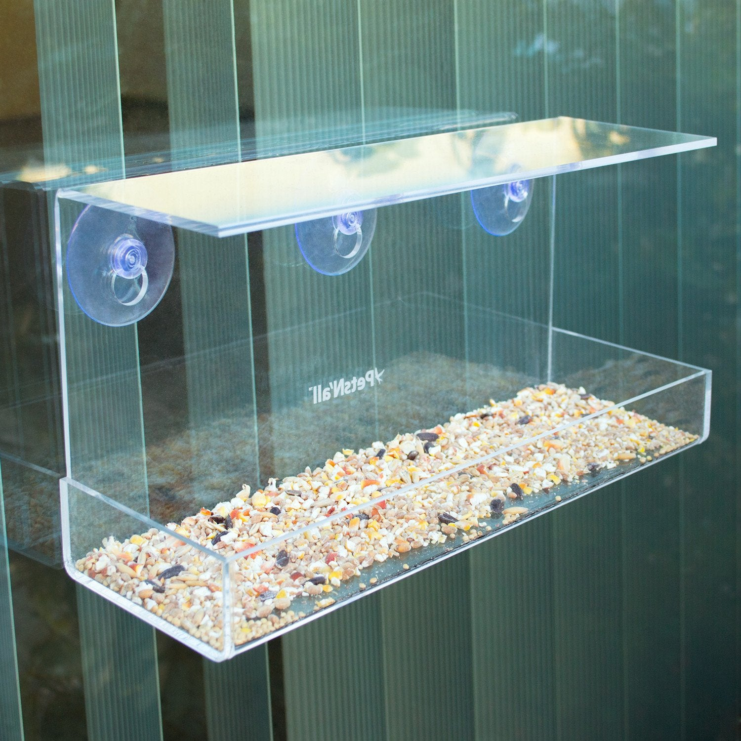 bird anti acrylic seeds feeder tidy drawer spread product locker no mess food with bottom feeders