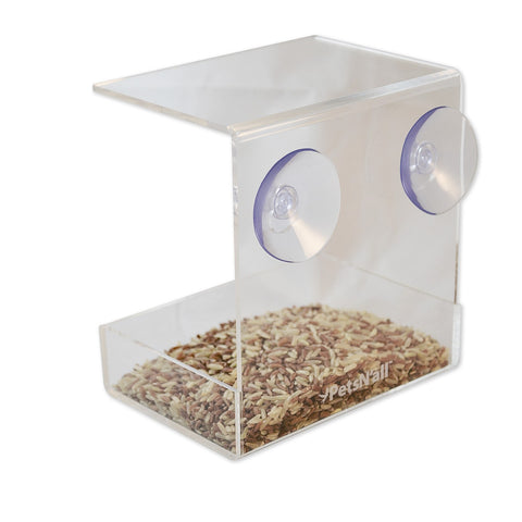 PetsN'all Acrylic Clear View Window Bird Feeder