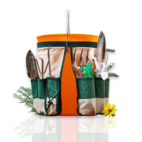 5-Gallon Bucket Caddy Apron with 10 Deep Pockets