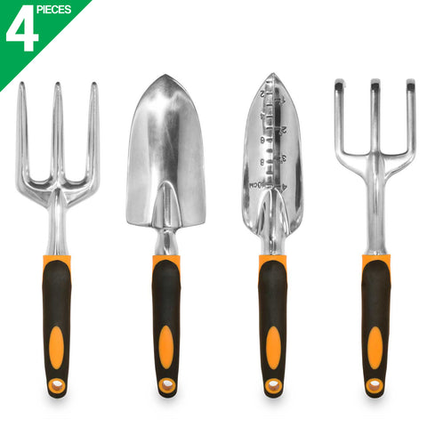 4-Piece Ergonomic and Rust-Resistant Garden Tools