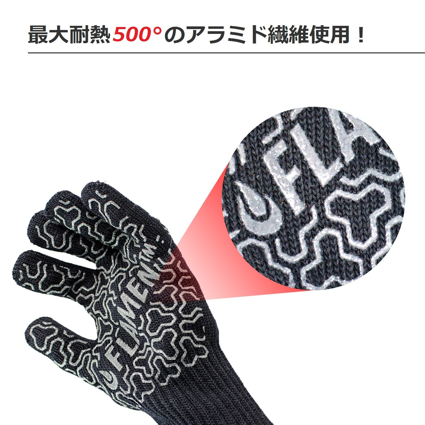 Extended-Cuff Kevlar BBQ and Fireplace Glove, Fireproof Heat ...