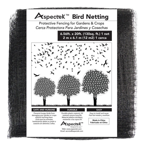 Aspectek Bird Netting Protective Fencing for Gardens and Crops, 7 X 20 Feet Netting Bird Block Garden Fence