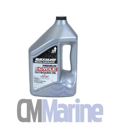 Mercury/Quicksilver Premium 2-Stroke Engine Oil, TC-W3, 1 Gallon