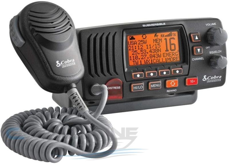 Cobra Mr F57B Vhf Radio And 1.5M Black Antenna Combo