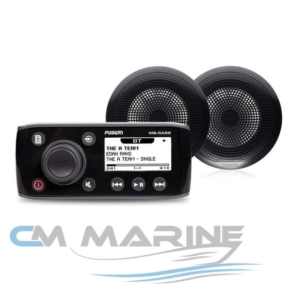 Fusion Ms-Ra55 Marine Stereo Package With 6 Speakers Radio
