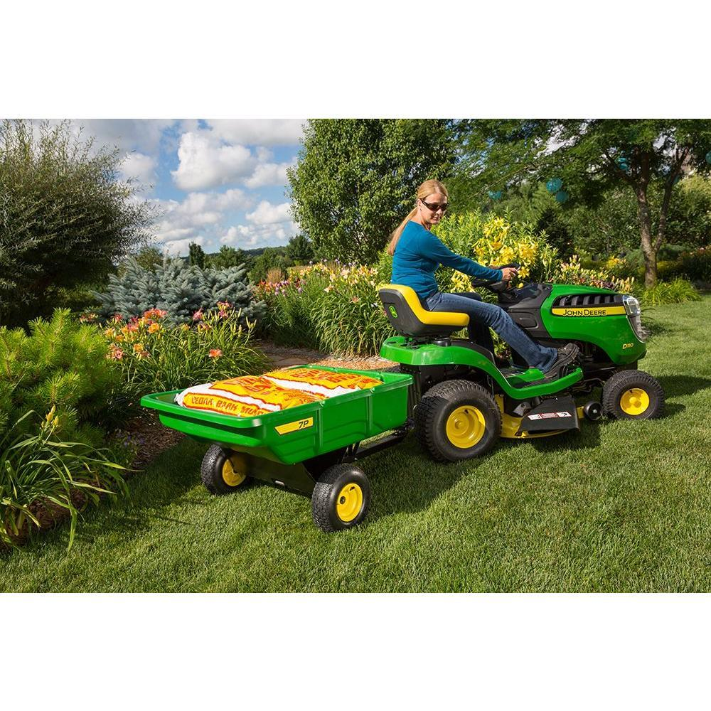 John Deere 200kg. 7cu ft. Utility Cart for Ride-on Mowers