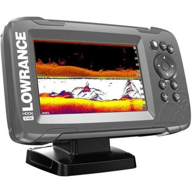 Lowrance Hook² 5X Fishfinder With Splitshot Transducer And Gps Plotter Fish Finder