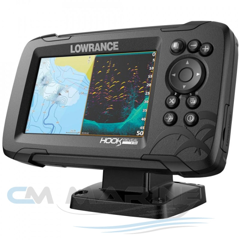 Lowrance Hook Reveal 5 Splitshot With Chirp Downscan & Aus/nz Charts Navigation