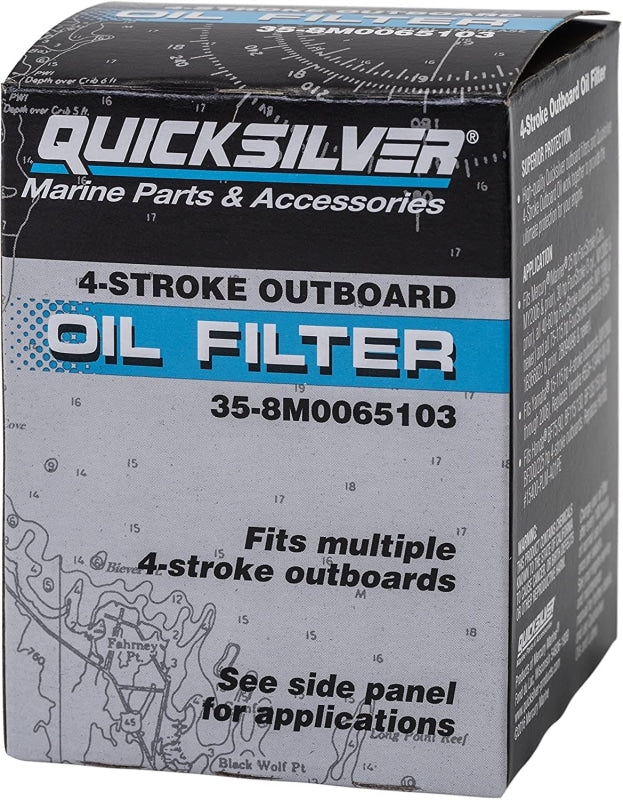 Mercury/quicksilver Fourstroke Outboard Oil Filter 25-115Hp Filters