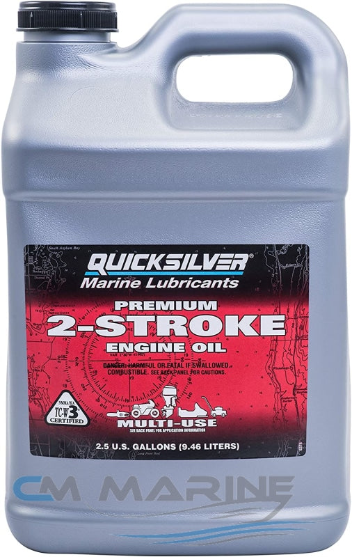 Mercury/quicksilver Premium 2-Stroke Engine Oil Tc-W3 9.46Lt