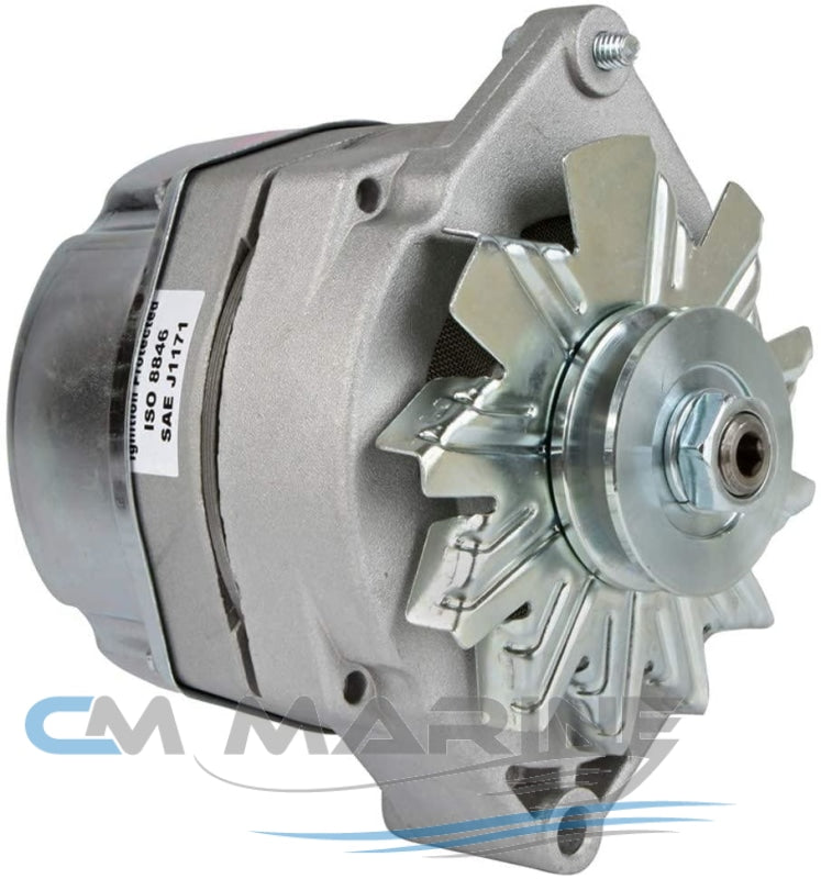 New 105 Amp Delco Marine Alternator Omc 1-Wire