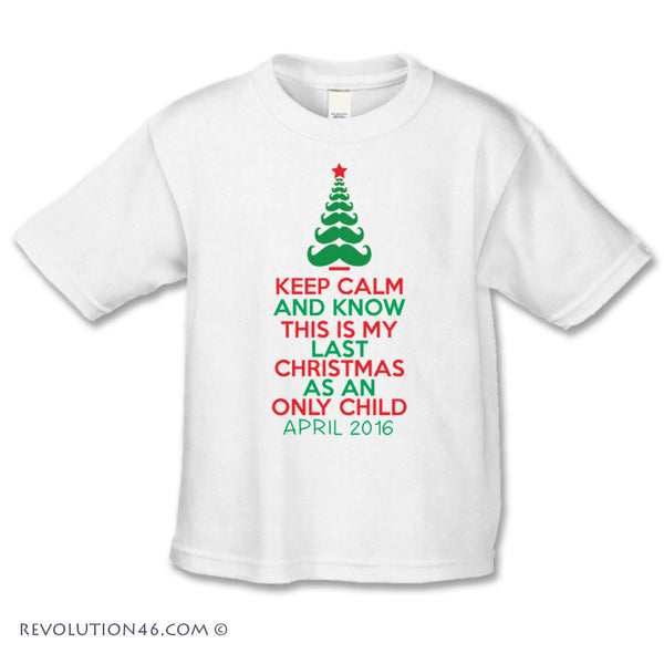 Keep Calm Christmas Pregnancy Announcement Shirt
