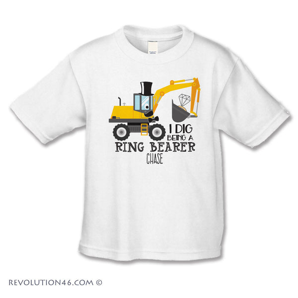I Dig Being a Ring Bearer - Wedding Shirt