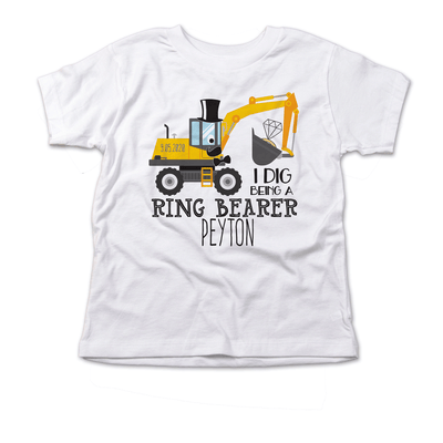 Ring Bearer Gift I Dig Being a Ring Bearer Shirt