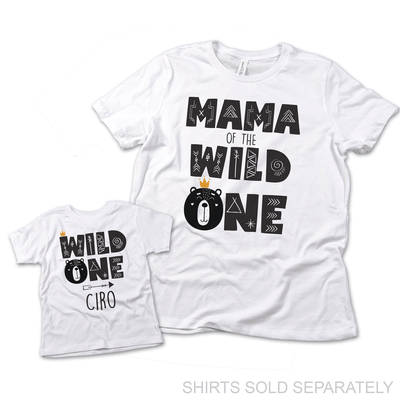 Wild One Bear, Mommy and Me Shirts