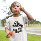 Fireman Hat Fire Chief Birthday Shirt