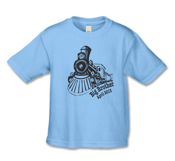 Big Brother Announcement Train Shirt With Due Date