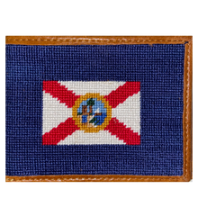 Load image into Gallery viewer, Smathers & Branson Florida State Flag Needlepoint Bi-Fold Wallet
