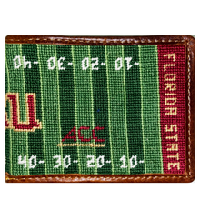 Load image into Gallery viewer, Smathers & Branson FSU Football Field Needlepoint Bi-Fold Wallet