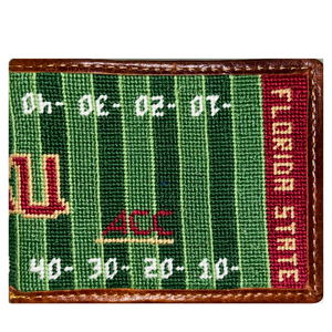 Smathers & Branson FSU Football Field Needlepoint Bi-Fold Wallet