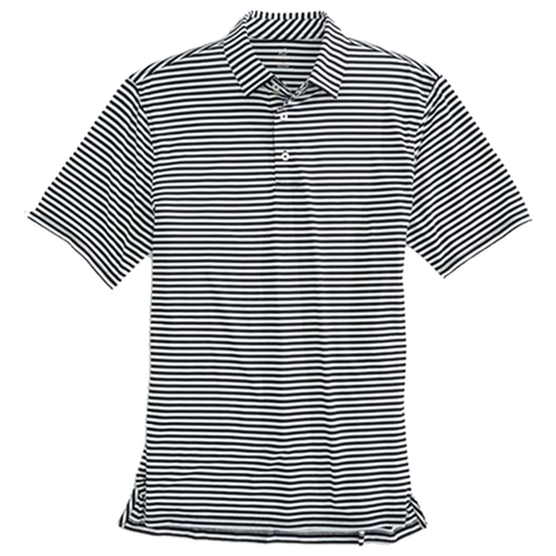 Southern Tide Driver Stripe Performance Polo - Black