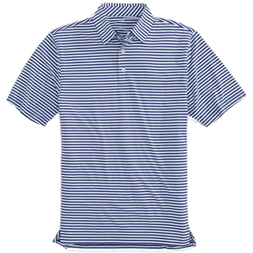 Southern Tide Driver Stripe Performance Polo - Navy