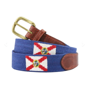Smathers & Branson Florida Flag Needlepoint Belt