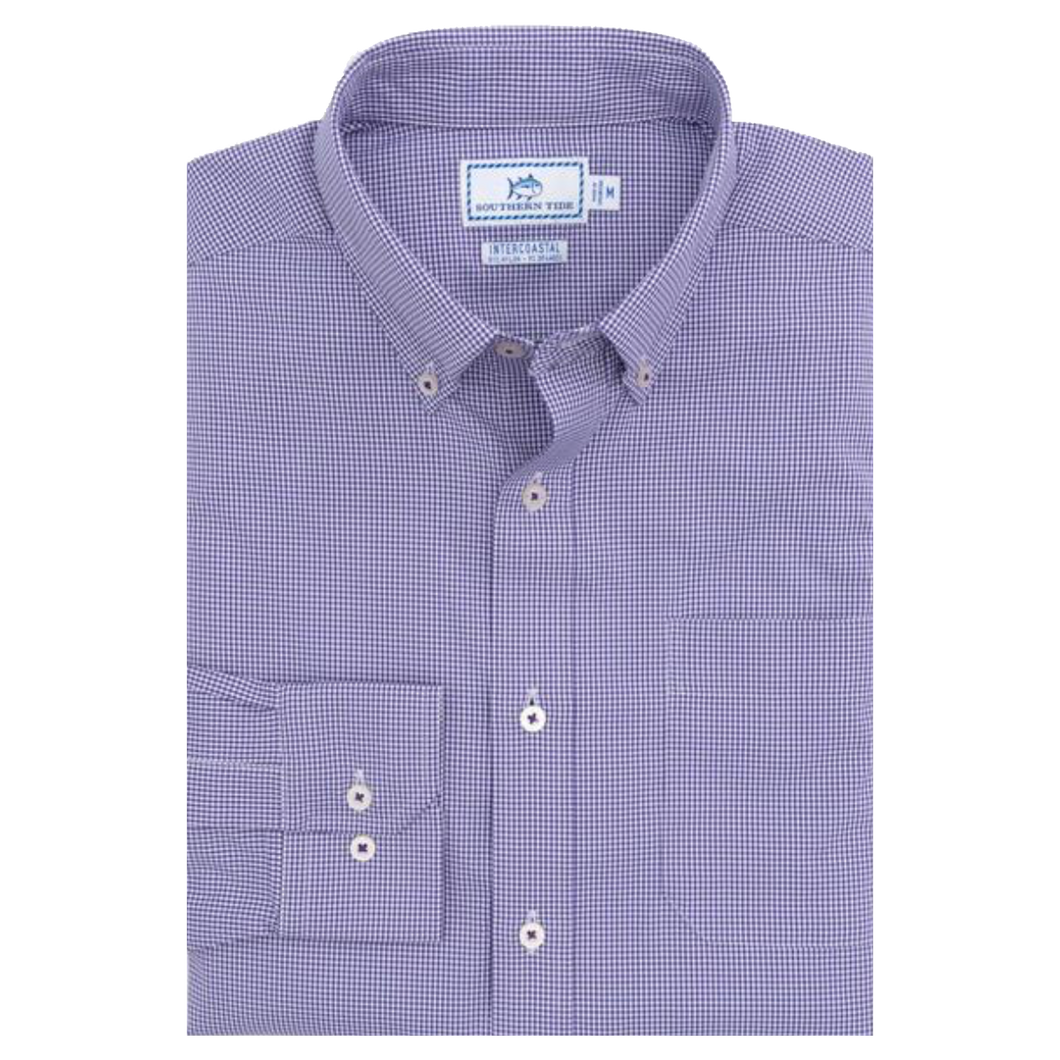 Southern Tide Team Colors Intercoastal Button Down - Regal Purple