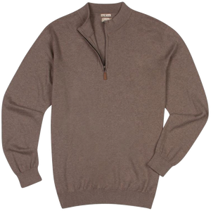 Genteal Cotton / Cashmere Quarter Zip - Sand