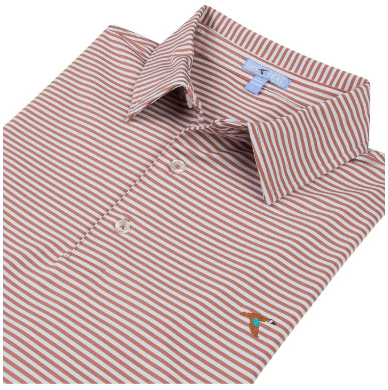 Genteal Seaside Stripe Polo - Adobe
