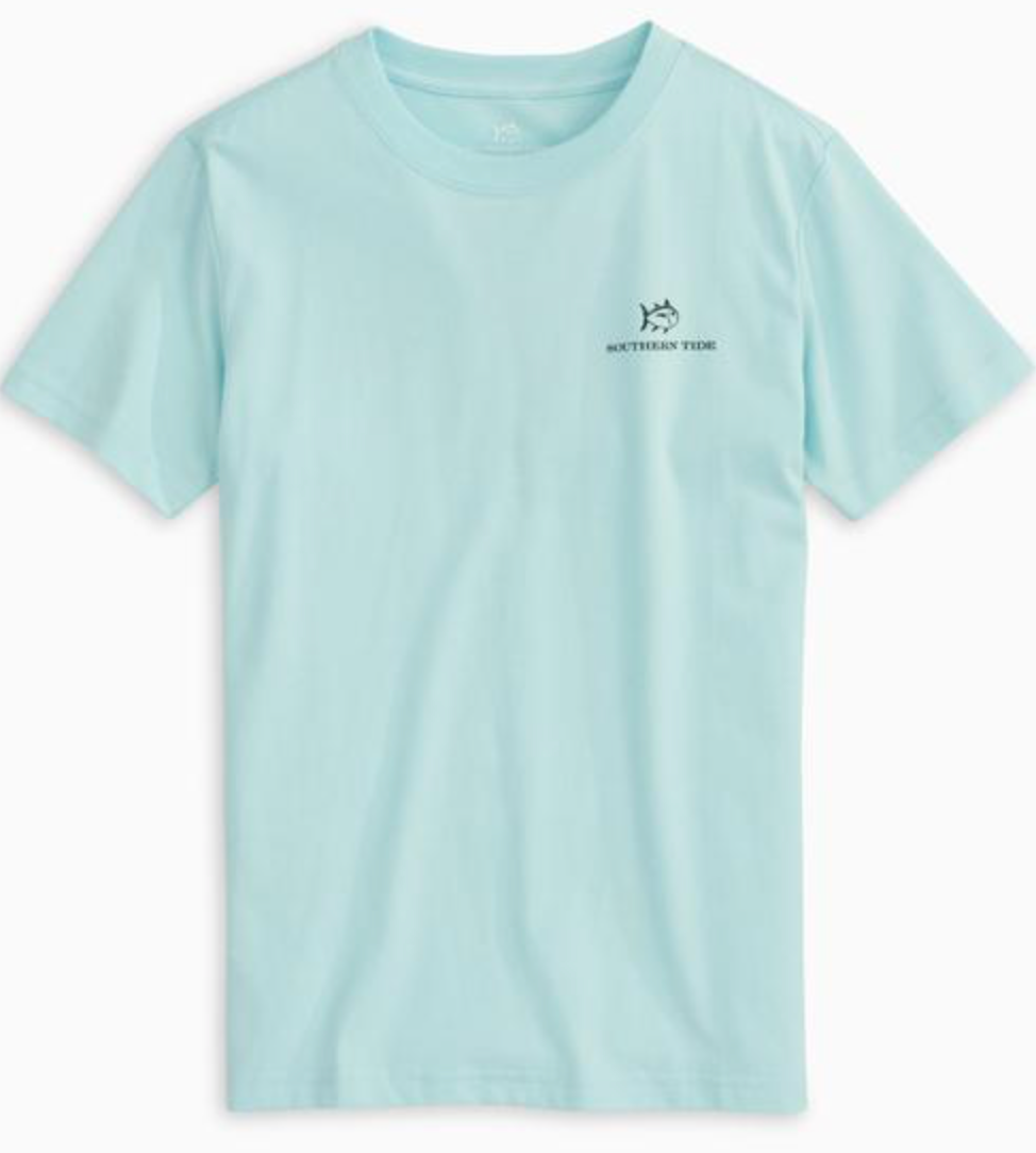 Southern Tide Boys Explore More Tee - Wake Blue