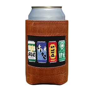 Smathers & Branson Beer Cans Needlepoint Cooler