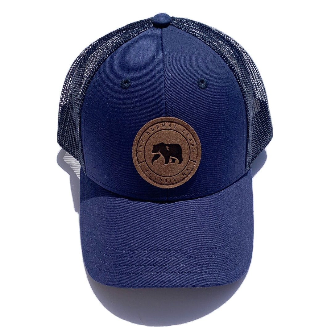 The Normal Brand Leather Patch Trucker Cap