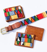 Load image into Gallery viewer, Smathers & Branson Mayan Pattern Needlepoint Bi-Fold Wallet