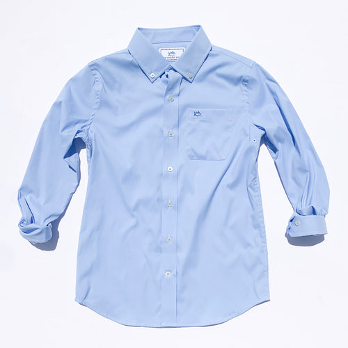 Southern Tide Boys Intercoastal Solid Button Down Shirt - Ocean Channel
