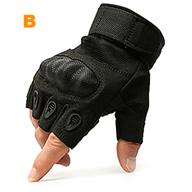 Hard Knuckle Half Finger Gloves 2