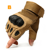 Hard Knuckle Half Finger Gloves