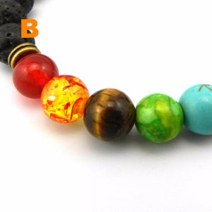 Beautiful Natural Multi-color Lava Bead Bracelets