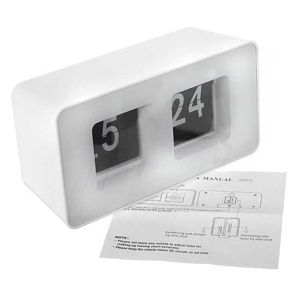 Cube Desk Table Wall Simple Modern Design Flip Clock