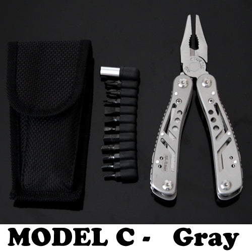 Multi function Folding Tool Set (Plier EDC Screwdriver Bits Outdoor Survival Combos & Camping Knife)